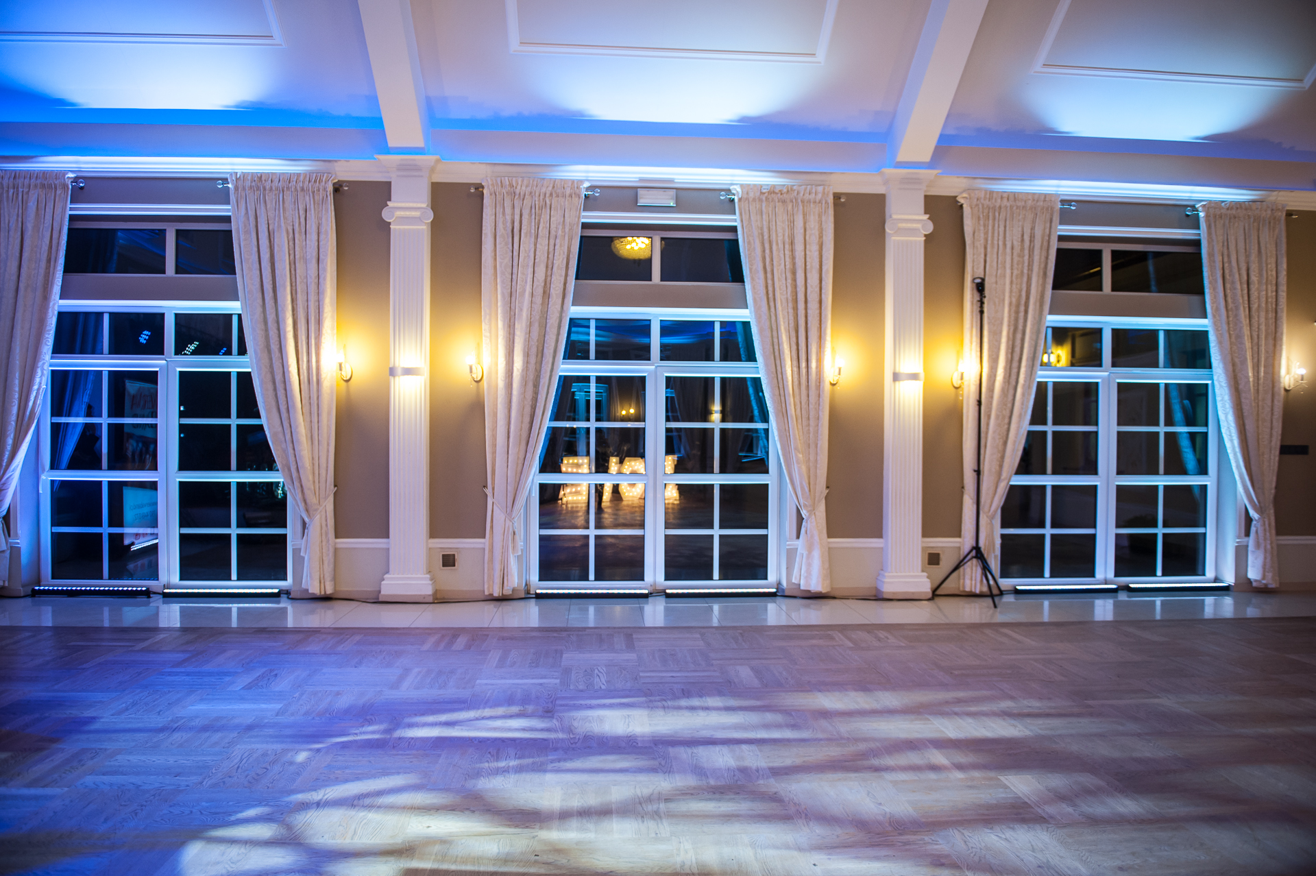 Dekoracja światłem sali Panorama w Wiśniczu koło Bochni